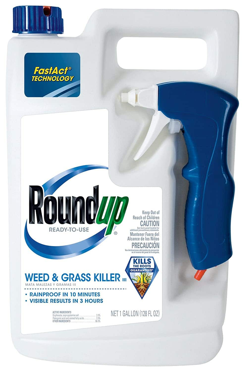 1-Gallon Roundup Weed and Grass Killer III w/ Ready to Use Trigger $7.95 + Free Prime Shipping