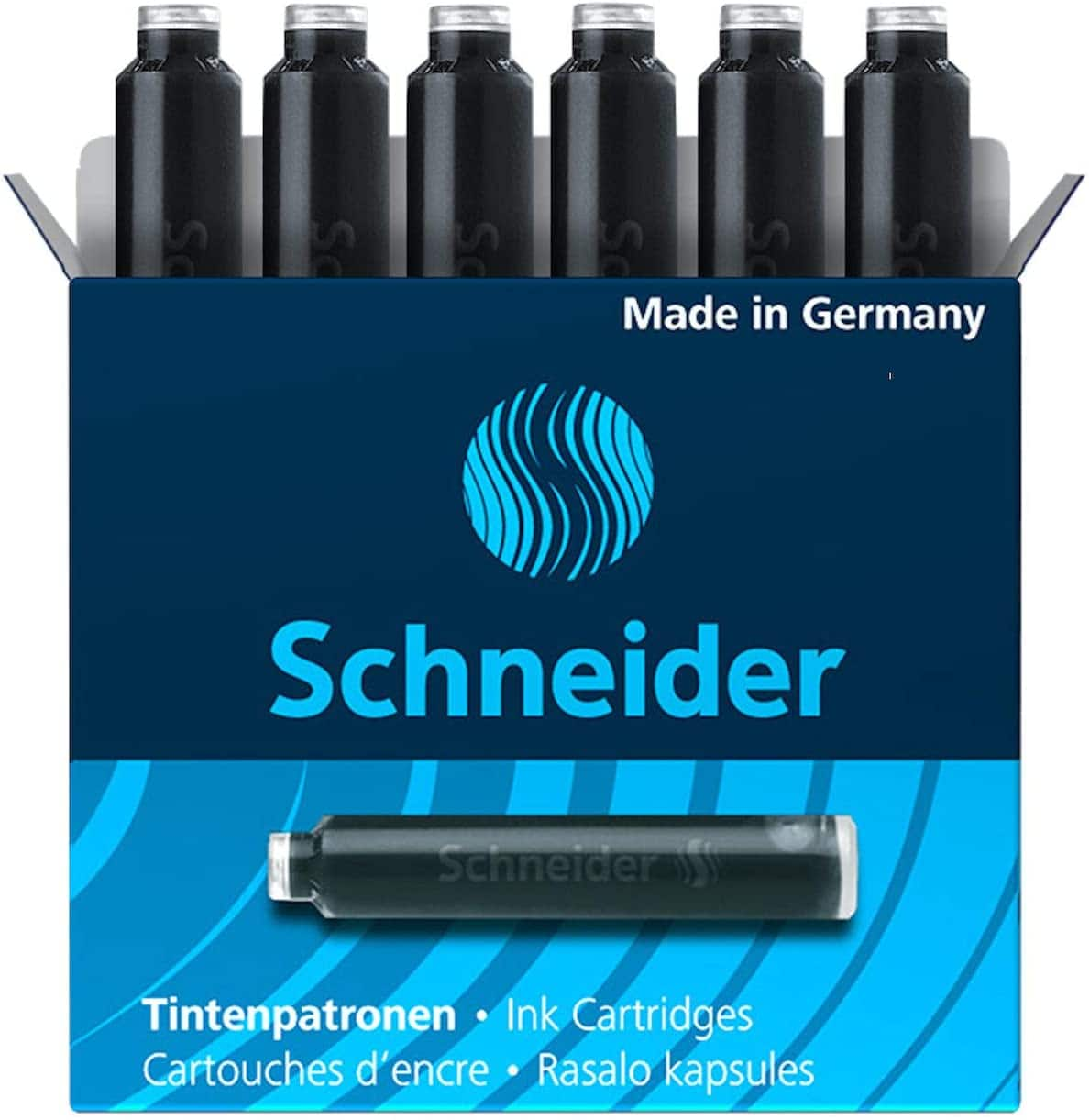 6-Pack Schneider Fountain Pen Ink Cartridge (Black) $0.99 + Free Prime Shipping