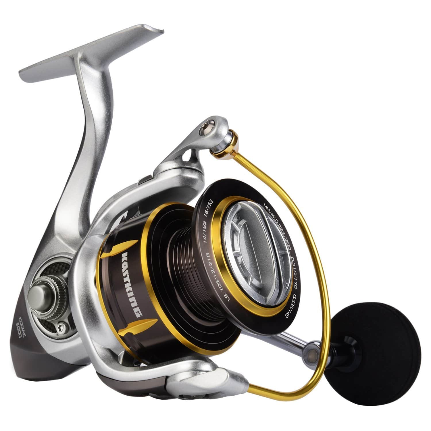 Kodiak Saltwater Spinning Fishing Reel - 39.5 LB Carbon Fiber Drag, All Aluminum, 10 + 1 Stainless Steel Shielded Bearings, Enhanced Stainless Steel Main Shaft - $48.99-$62.99