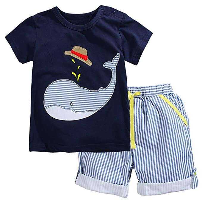 Fiream Little Boys' Cotton Clothing Short Baby Sets from $6.99 to $7.99 Free Shipping for Prime
