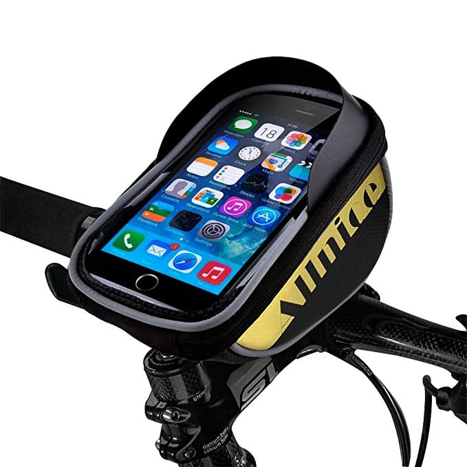 allnice Bike Bag, Waterproof Touch Screen Bike Handlebar Bag Mountain Road MTB Bicycle Front Phone Frame Bag Holder for iPhone 7 Plus 6s 6 plus/Samsung Galaxy note Cellphone $4.80
