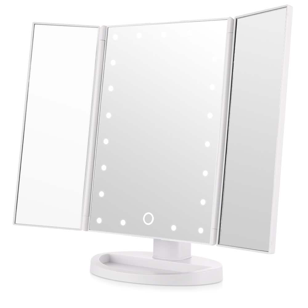 Easehold LED Vanity Mirror Make up Tri-Fold with 21Pcs Lights $13.99