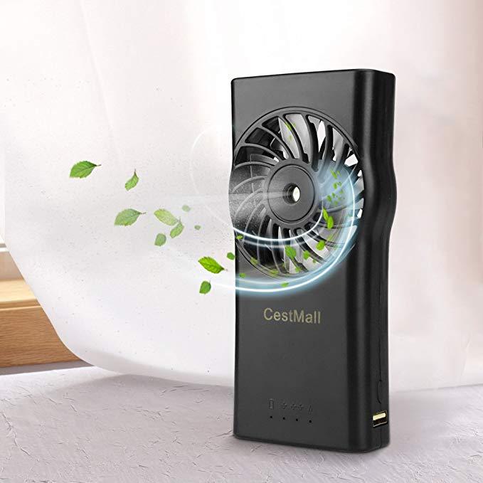 CestMall Misting Fan, USB Powered Desk Fan with Mister - $7 00