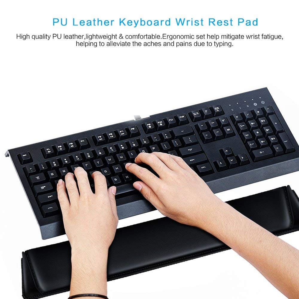 de57be1a565 Keyboard Wrist Rest Pad, Leatherette Ergonomic Wrist Cushion - $3.50 @  Amazon - Free Shipping for Prime