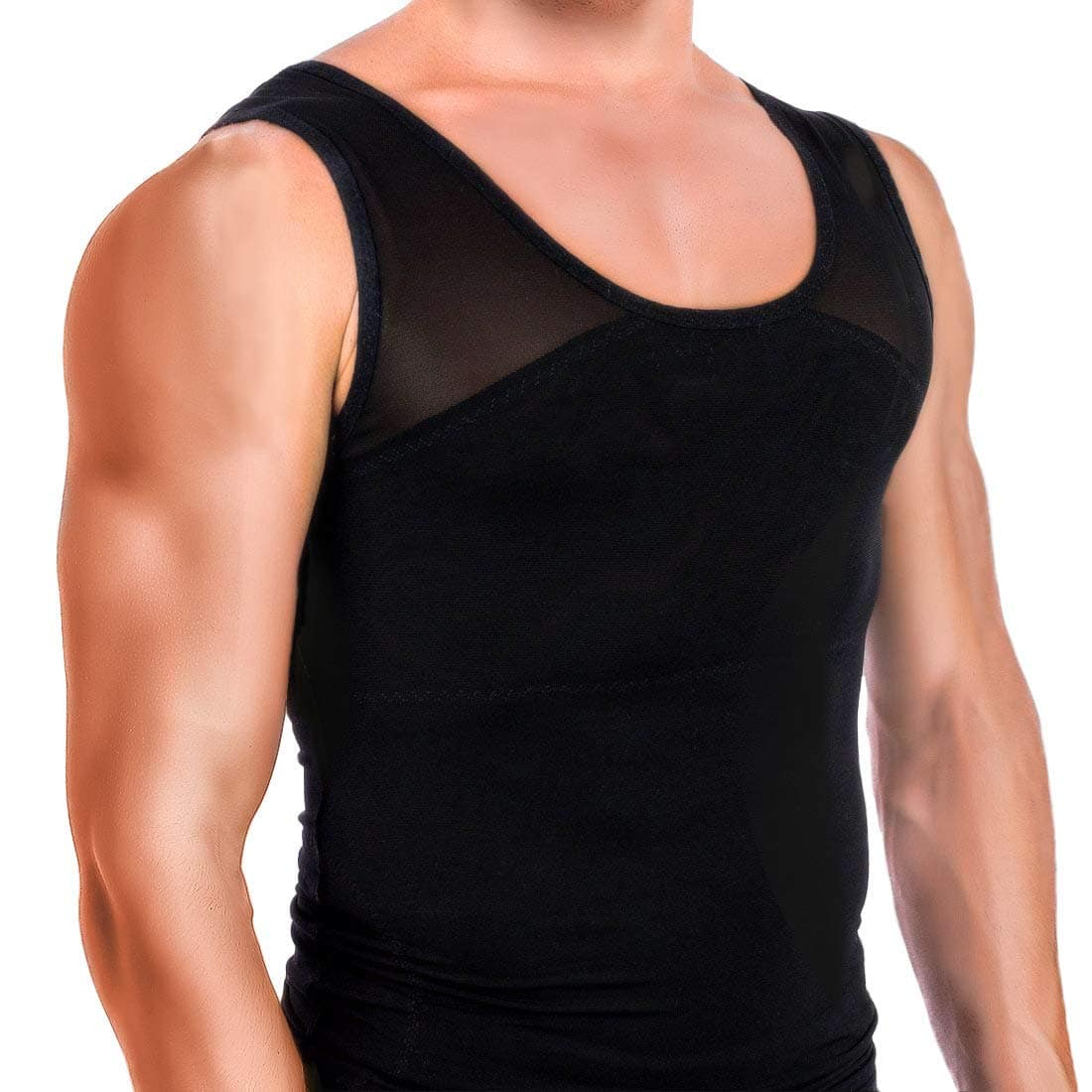 335675bbbf4 Men s Body Shaper Compression Shirt Abs Abdomen Slim Tank Top Undershirt   8.99