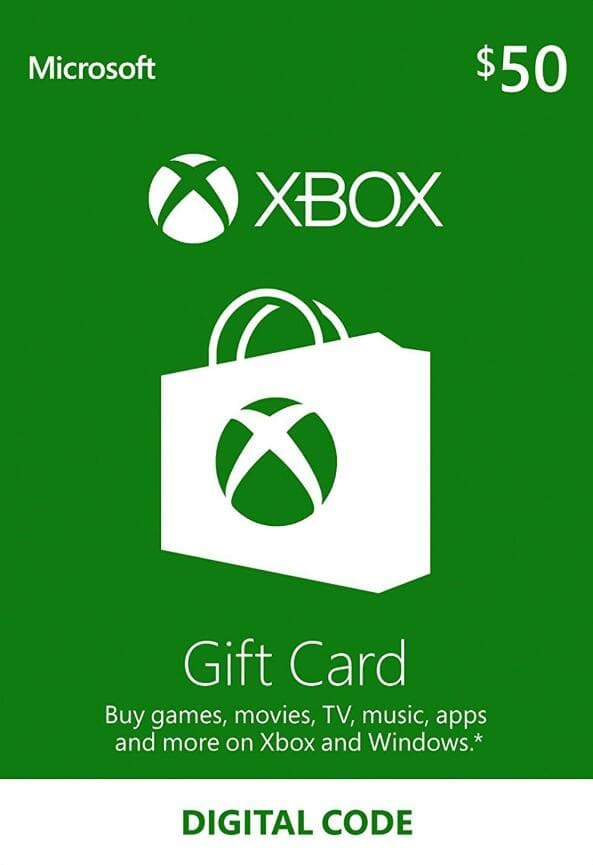 XBOX Live 50 USD for $43.99 and 100 USD for $87.96