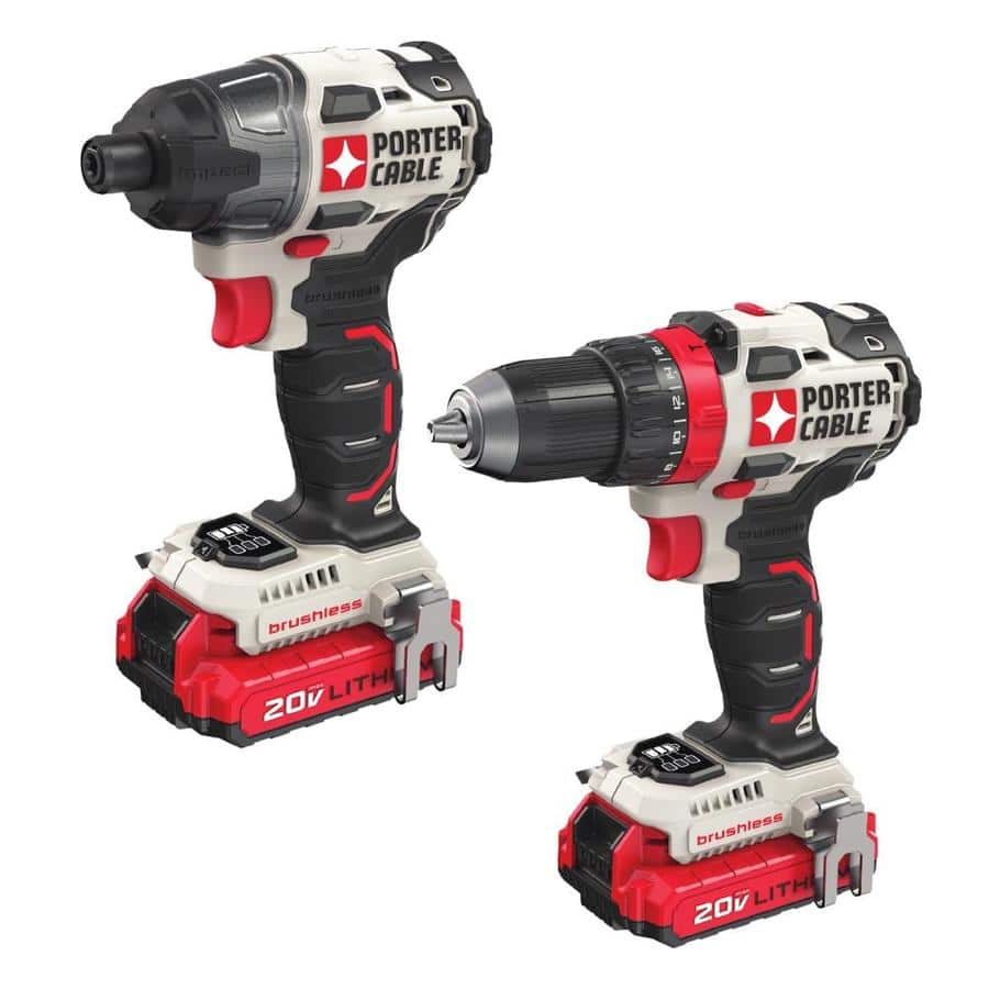 PORTER-CABLE 2-Tool 20-Volt  Brushless Combo PCCK619L2 LOWES $139.77