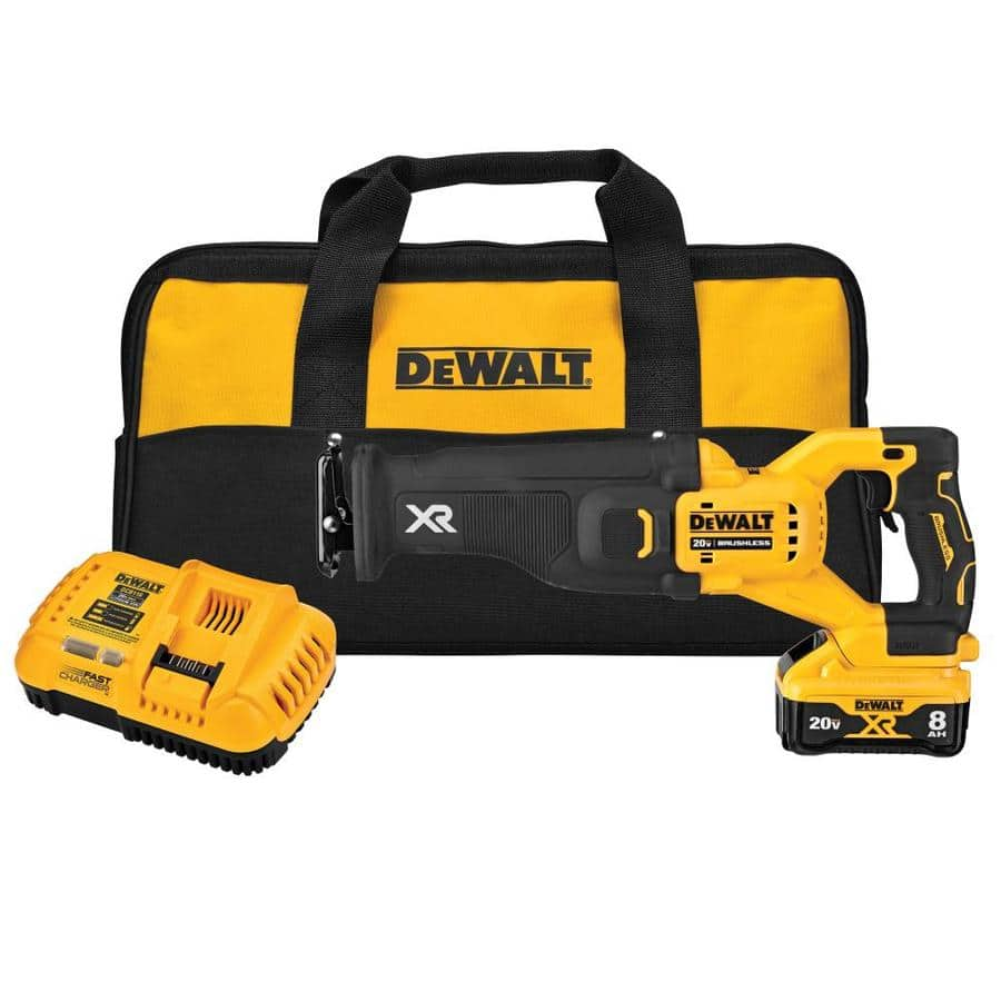 Dewalt XR Power Detect Reciprocating Saw with 8Ah and Charger + Free XR 8ah at Lowe's YMMV Store Pick-up - $279