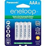 8-Pk Panasonic Eneloop AAA Ni-MH Pre-Charged Rechargeable Batteries $14.99 + FS at Adorama