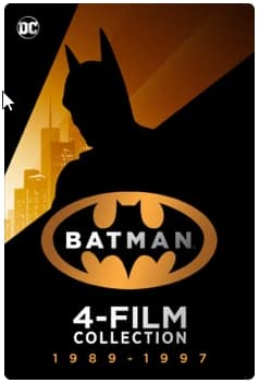 Batman 4 film 4k collection $19.99 itunes