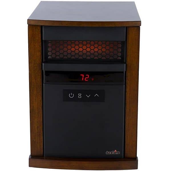 Duraflame 5200 BTU Infrared Quartz Cabinet Electric Space Heater With  Thermostat   Lowes   $69