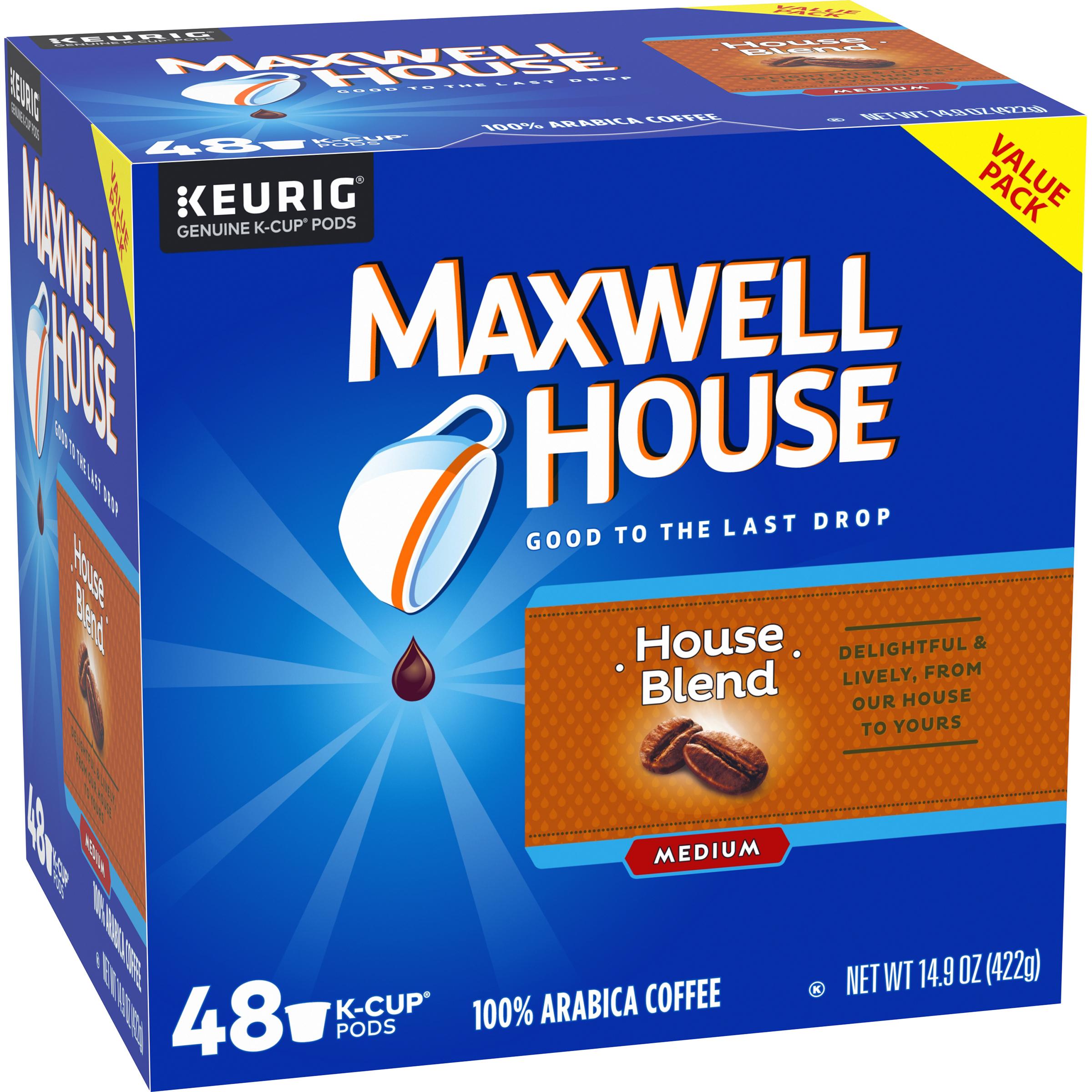 Maxwell House 48 ct. House Blend K-Cups $8.55 @ Walmart B&M, YMMV