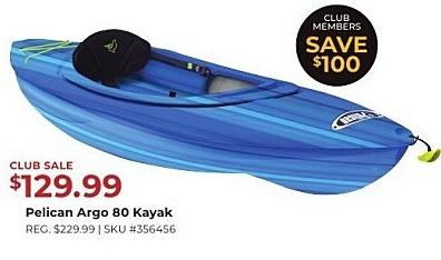 Gander Outdoors Black Friday: Pelican Argo 80 Kayak for $129 99