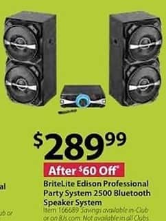 BJs Wholesale Black Friday: BriteLite Edison Professional