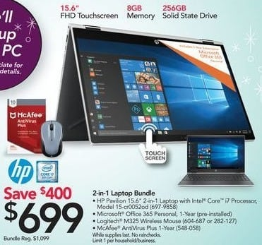 Office Depot and OfficeMax Black Friday: HP Pavilion 15-cr0052od