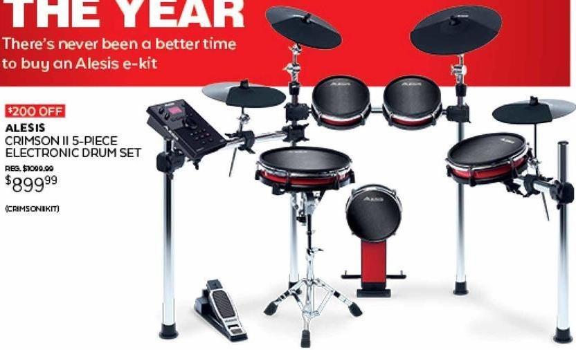 guitar center black friday alesis crimson ii 5 piece electronic drum set for. Black Bedroom Furniture Sets. Home Design Ideas
