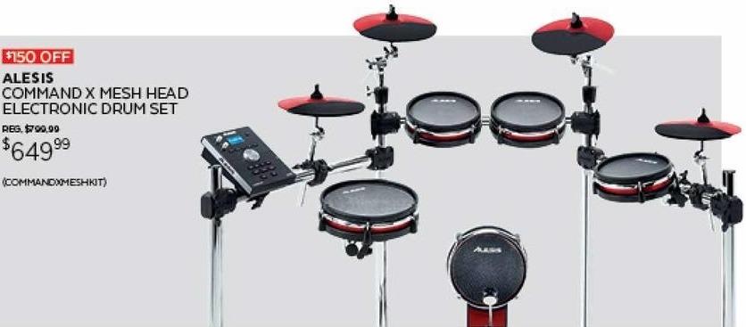 guitar center black friday alesis command x mesh head electronic drum set for. Black Bedroom Furniture Sets. Home Design Ideas