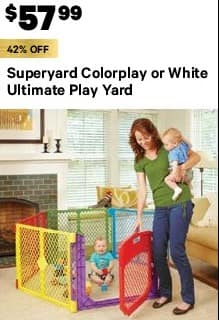 Groupon Black Friday Superyard Colorplay Or White Ultimate Play