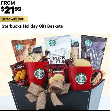Groupon Black Friday: Starbucks Holiday Gift Baskets, Select Styles - From $21.99