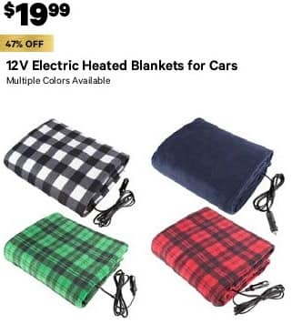 Groupon Black Friday 12v Electric Heated Blankets For Cars Multiple Colors Available Select Styles 19 99
