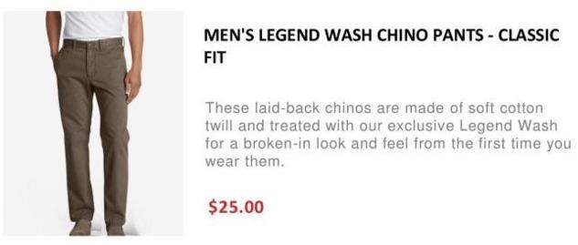 pretty nice biggest discount new varieties Eddie Bauer Black Friday: Men's Legend Wash Chino Pants ...