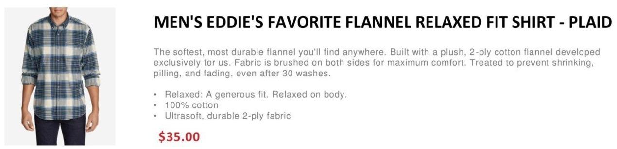 dc3891f5574c Eddie Bauer Black Friday  Men s Eddie s Favorite Flannel Relaxed Fit Shirt  - Plaid