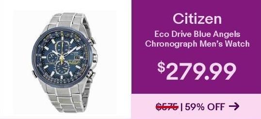 Ebay Black Friday Citizen Eco Drive Blue Angels Chronograph