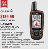 Sportsman's Warehouse Black Friday: Garmin GPSMap 64s GPS ... on garmin 62st, garmin 50lm, garmin 50s, garmin etrex 10, garmin 60csx, garmin 70s, garmin edge touring plus, garmin 62s, garmin carrying case 64 st,