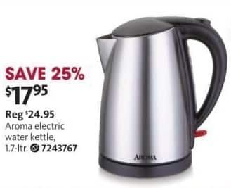 Aafes Black Friday Aroma Stainless Steel Electric Water Kettle For 17 95