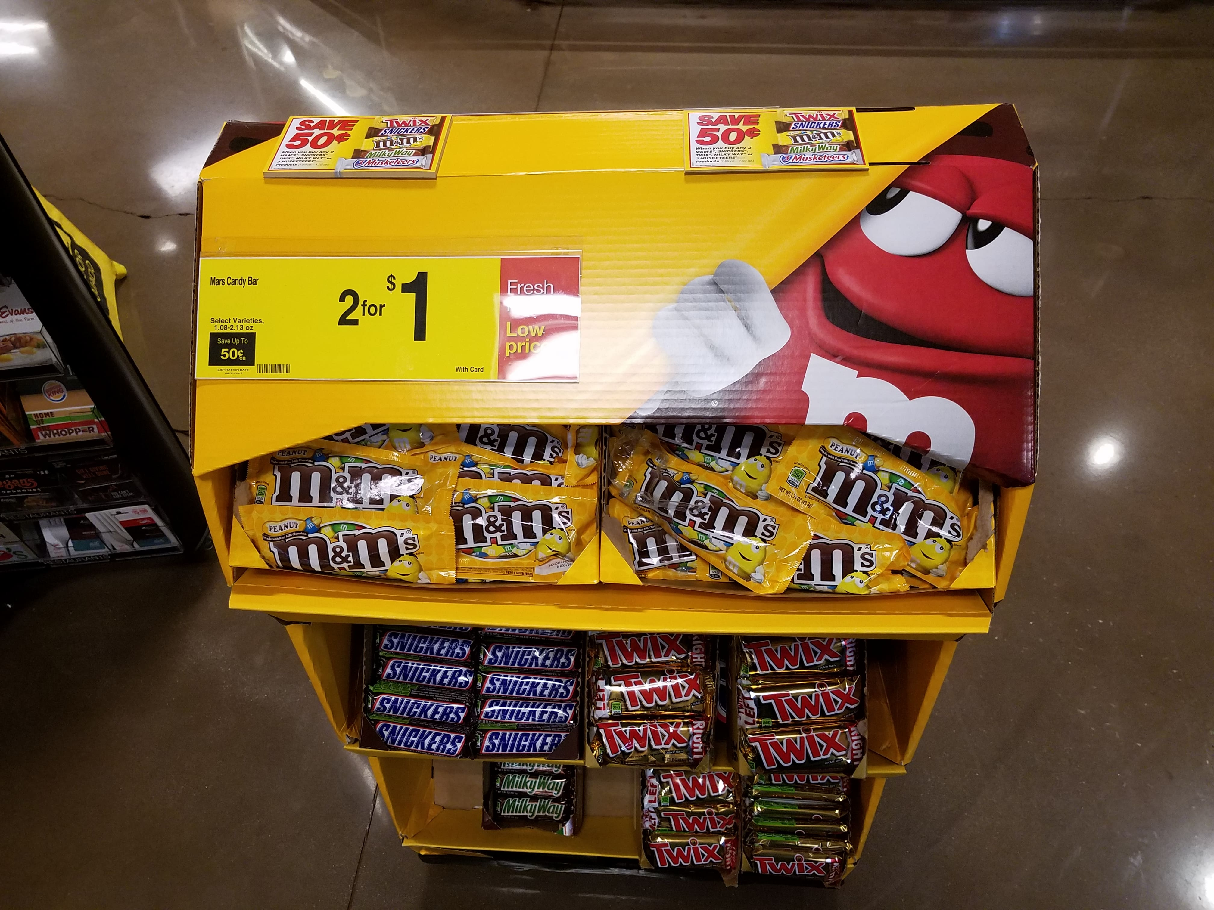 Kroger 25-cent candy bars: M&Ms, 3-Musketeers, MilkyWay ...