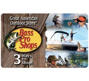 Buy a $50 Bass Gift Card, get a bonus $10 eBay eGift Card