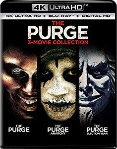 The Purge: 3-Movie Collection (4K Ultra HD + Blu-ray + Digital HD) $25.61 FS at amazon