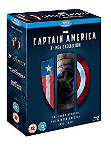 Amazon.uk: Captain America 1-3 [Blu-ray] [Region Free] $25 shipped