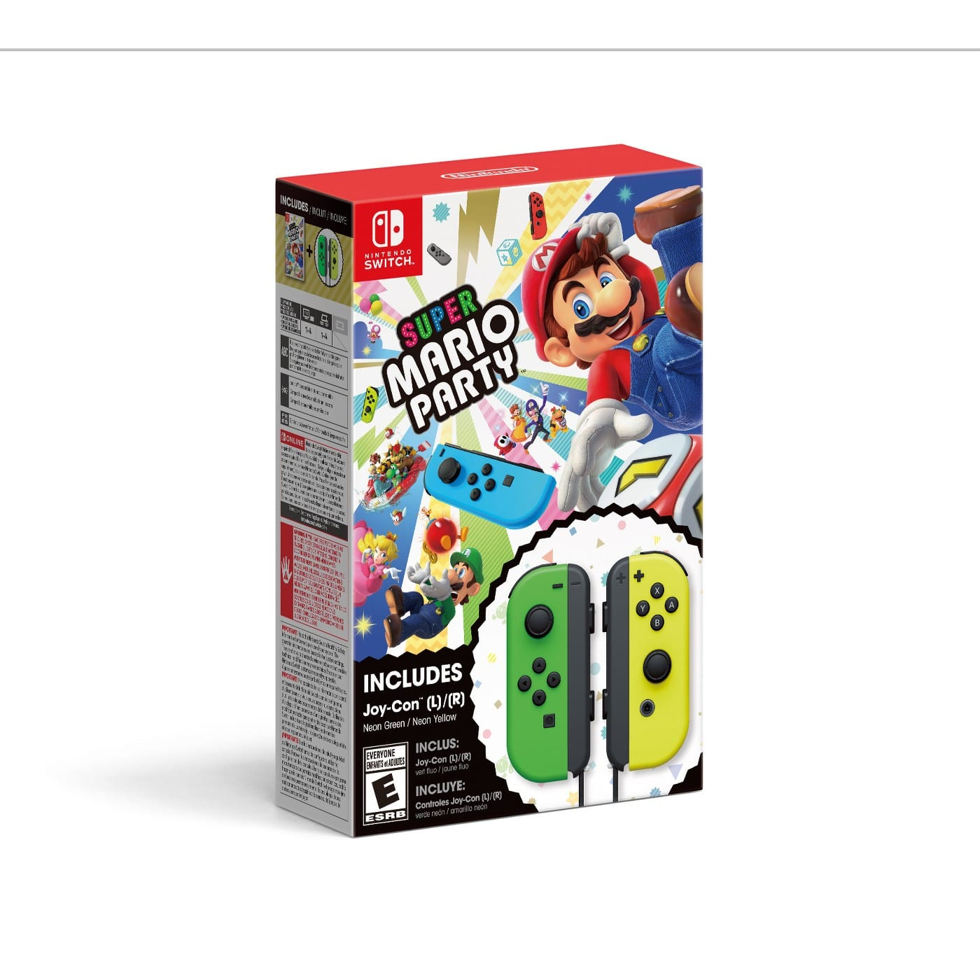 Super Mario Party with Neon Green / Neon Yellow Joy-Con Set - Nintendo Switch $99.99 FS at target and walmart