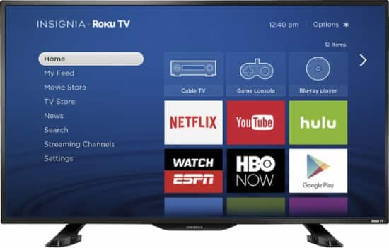 "Insignia™ - 39"" Class (38.5"" Diag.) - LED - 1080p - Smart - HDTV Roku TV $199 +tax with free shipping"