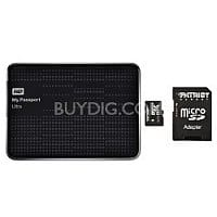 BuyDig Deal: 1TB Western Digital My Passport Ultra Portable HDD + 32GB Patriot LX PRO MicroSD Card $68 + Free Shipping