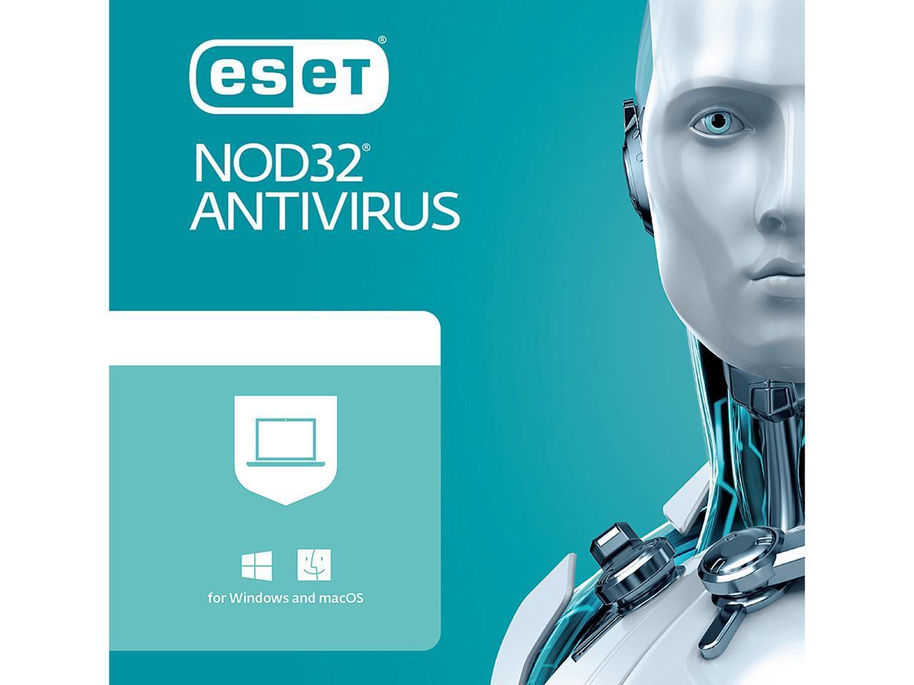 ESET NOD32 Antivirus 2021 1 Year / 2 PCs - Download $19.99
