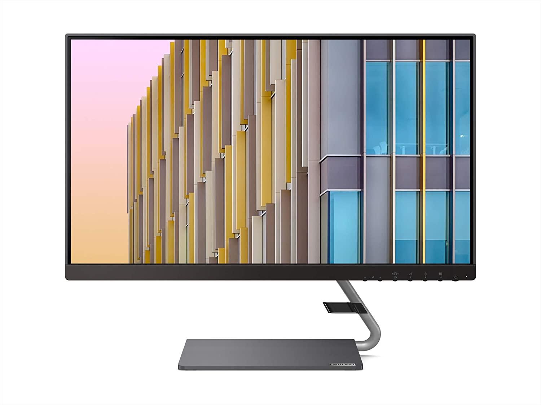 Lenovo Q24h-10 23.8-inch QHD (2560 x 1440) USB-C LCD Monitor, LED Backlit, AMD FreeSync, 75Hz, 4ms, 99% sRGB, Speakers, Low Blue Light, 66A8GCC6US $191.99