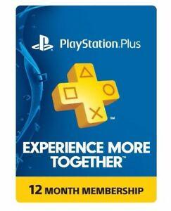 Playstation Plus 1-year subscription $38.99 EBAY