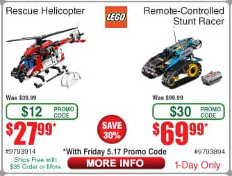 LEGO Remote-Controlled Stunt Racer 42095 (Fry's promo code) $70