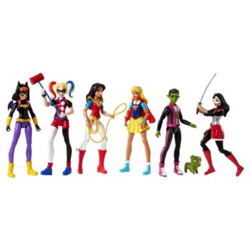 Target In-store: DC Super Hero Girls Action Figure 6pk $26 After Cartwheel and Red Card