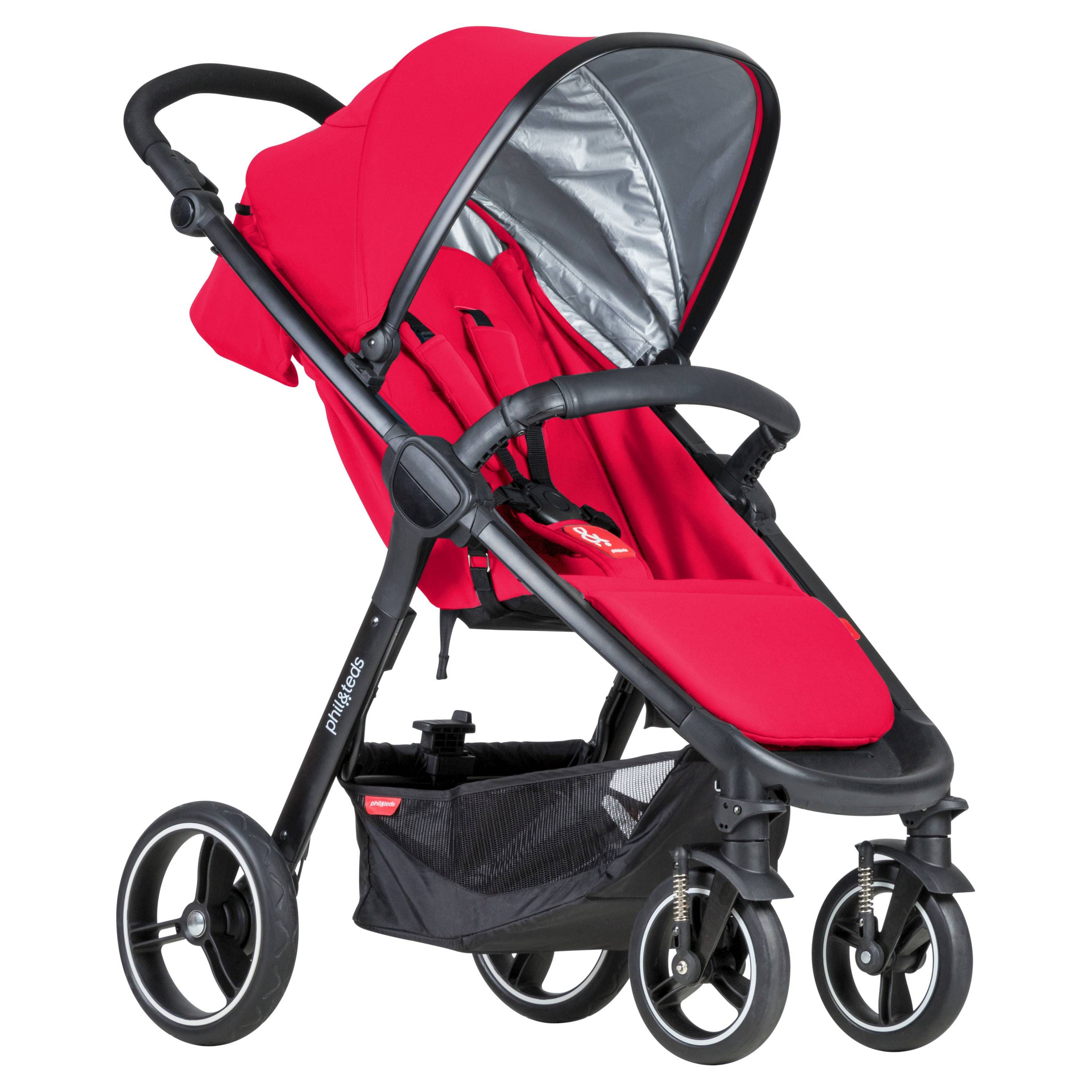 phil & teds Smart Stroller in Raspberry, Cyan, or Cherry for $130