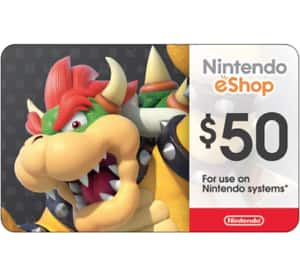 $50 Nintendo eShop Gift Card for $42.50 - Via Email Delivery
