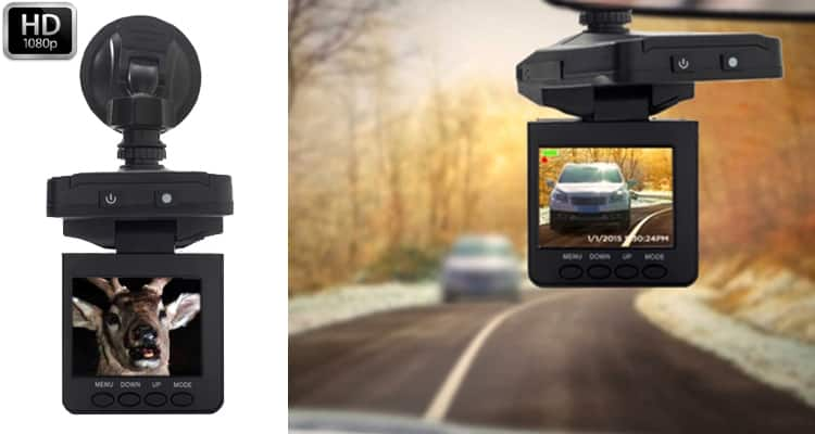 Vehicle Dash Cam 1080P HD Video Recorder with Charger and Mount $14
