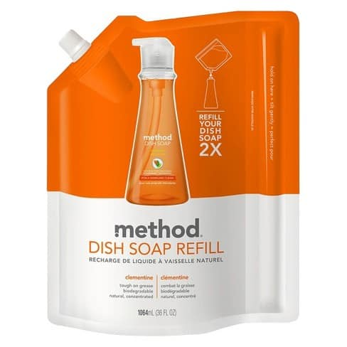 Target In Store: Method Dish Soap 40% off Cartwheel plus Buy 1 Get 1 25% off with In Store Pick Up $10.48