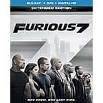 Furious 7 (Blu-ray + DVD + DIGITAL HD with UltraViolet) for $17.99+Free Prime Shipping