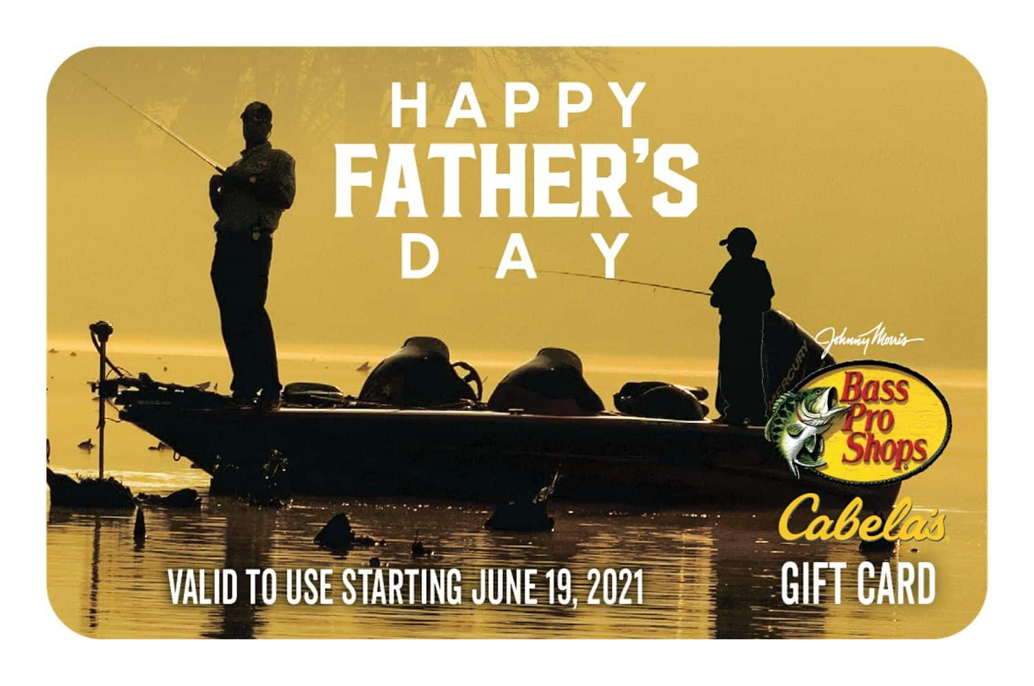 Bass Pro Shops and Cabela's Special Father's Day Gift Card - 10% Off - ($50 for $45 +FS) and more