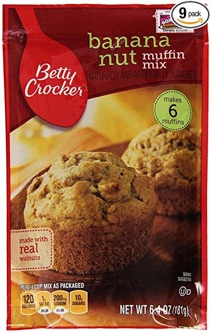 Amazon Betty Crocker Baking Mix Banana Nut Muffin Mix 6 4 Oz Pouch