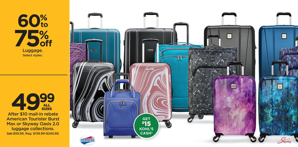Kohls Black Friday American Tourister Burst Max Or Skyway Oasis Super Bomberman R Reg 1 20 Luggage Collections 15