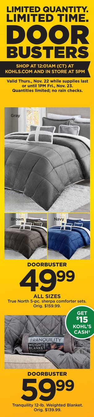 0f3052df44fb6 Kohl s Black Friday  Tranquility 12-lb. Weighted Blanket +  15 Kohl s Cash  for